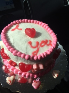 Valentines day cake 2016