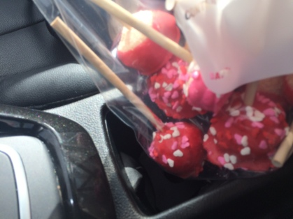 Valentines day cherry chip cake pops 2016